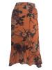 Neo Noir Elena Orange Flower Skirt - StorlekL