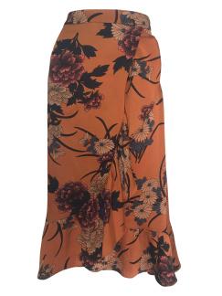 Neo Noir Elena Orange Flower Skirt - Storlek XS
