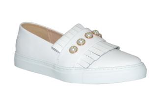 Philip Hog Pearl White Sneakers - Storlek 36