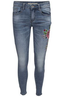 Chica London Broderade Jeans Skinny - Storlek XS