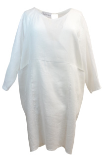 Bypias Happy Tunic Linne White - One Size