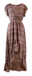 Chica London Klänning med volang - M/L