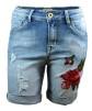 Chica London Shorts med brodyr - S