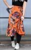 Neo Noir Elena Orange Flower Skirt