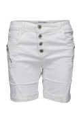 Chica London Shorts med zip vit