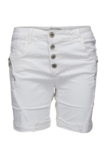 Chica London Shorts med zip vit - XXS
