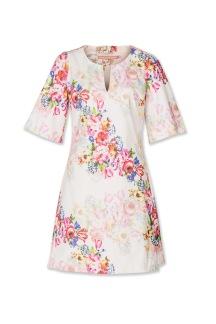 Pernilla Wahlgren Blossom Wide Sleeve Rib Dress-Pink - S