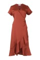Neo Noir Wrap Maggi Dress Copper