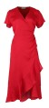Neo Noir Wrap Maggi Dress Solid Red
