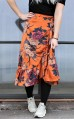 Neo Noir Elena Orange Flower Skirt