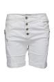 Chica London Shorts med zip vit