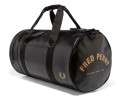 Fred Perry Classic Barrel Bag Black/Gold