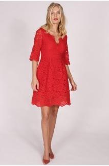 Pernilla Wahlgren Alcina Lace Dress Röd - XS