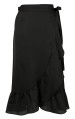 Neo Noir Mika Wrap Skirt Solid Black