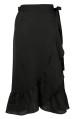 Neo Noir Mika Wrap Skirt Solid Black