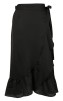 Neo Noir Mika Wrap Skirt Solid Black - XL