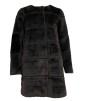 Neo Noir Filippa Faux Coat Svart - M