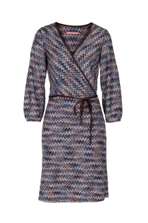 Pernilla Wahlgren Liboria Wrap Knit Dress - M