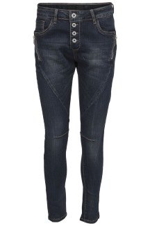 Chica London Jeans med zip i sidan - S