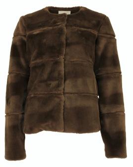 Neo Noir Kahla Faux Fur Jacket Mocca - XS