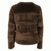 Neo Noir Kahla Faux Fur Jacket Mocca