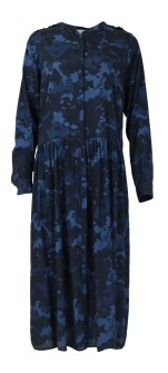 Neo Noir Nora Wave Dress Navy Camou print - S