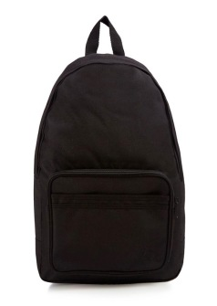 Fred Perry Twin Tipped Rucksack Black/Black - One size