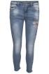 Chica London Broderade Jeans - Storlek XS