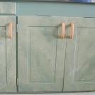 Laserade köksluckor med inskuggade speglar / Decorative painting