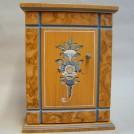 Nyckelskåp valnöt och blå allmogeblomma / Key cabinet