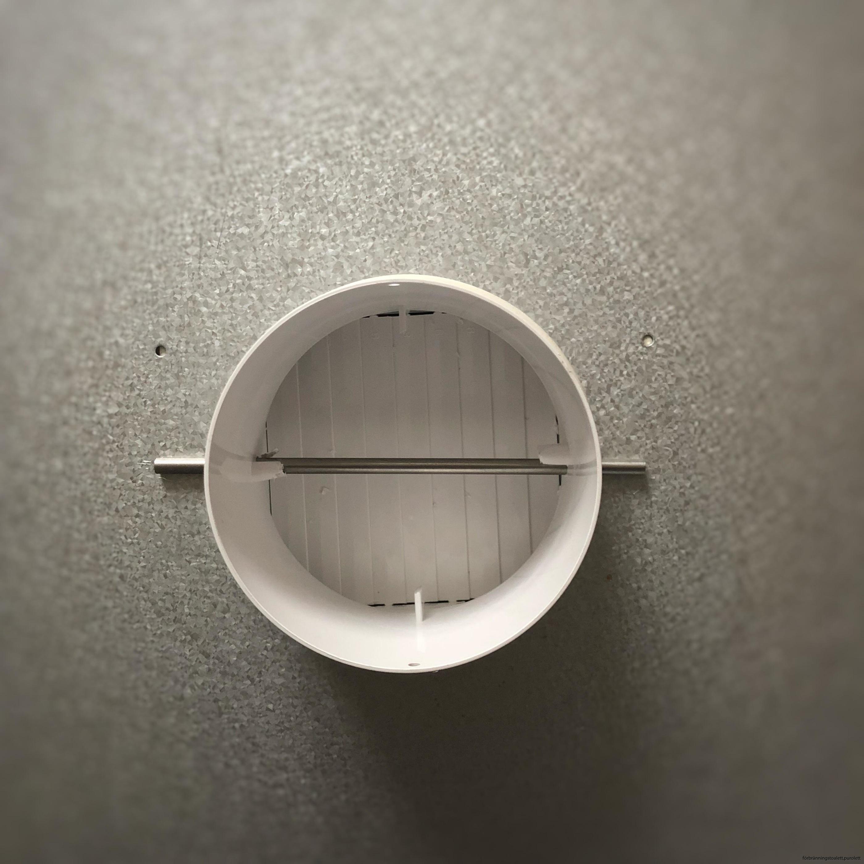 Förbränningstoalett-purolett kallrasskydd