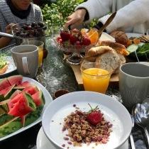 Gofrukost med vänner och familj!