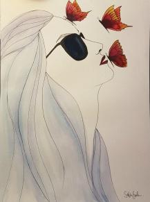 Woman - blue -
