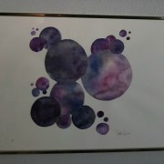 circles in purple and black