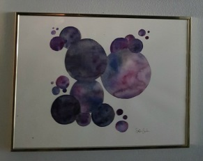 circles in purple and black -