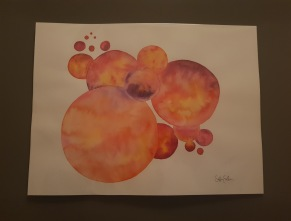 circles in orange -