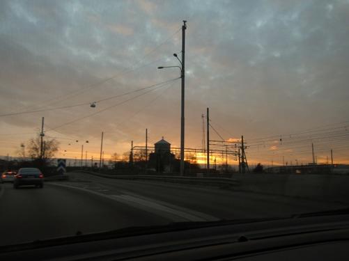 På väg hem idag efter jobbet