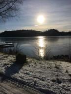 Sjön där hundarna brukar bada sommartid