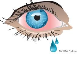 När du får en allergisk reaktion frigörs olika retande ämnen, till exempel histamin, och ger de typiska allergiska besvären med rinnsnuva, klåda, nysningar, nästäppa. Ofta får du också röda kliande ögon som rinner.
