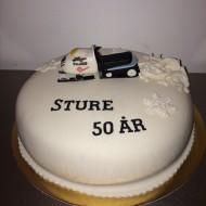 Sture 50år, skotertårta