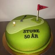 Sture 50år, golftårta