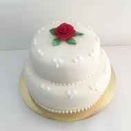 Bröllop vitt, rödros