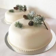 Bröllopstårta, enkla tallkvist