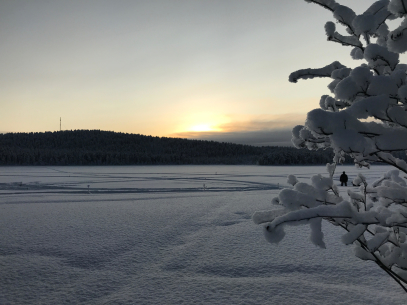 Jokkmokk: a view during winter