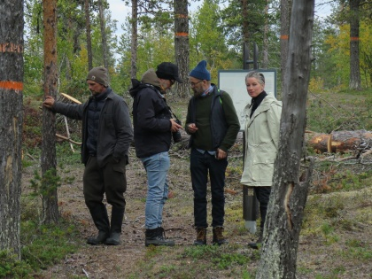 The artists Markus Vallien, Gustaf Nordenskiöld, Hans Isaksson och Åsa Jungnelius. Picture taken by Lisa Torell