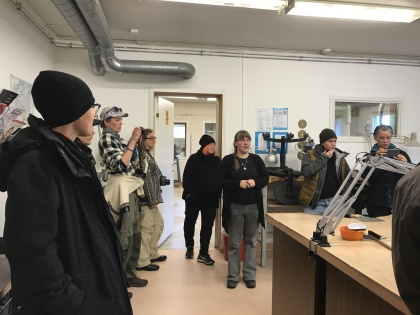 The group visits Kristallen (labs and museum) in Lannavaara