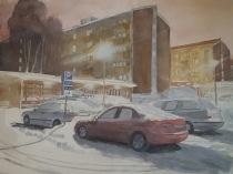 Sven Teglund, Parkering vid Höghusen