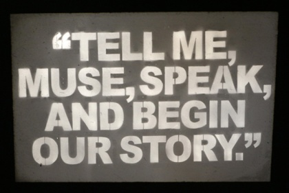 """Neda Saeedi, """"Tell Me Muse, Speak, And Begin Our Story"""" (2015)"""