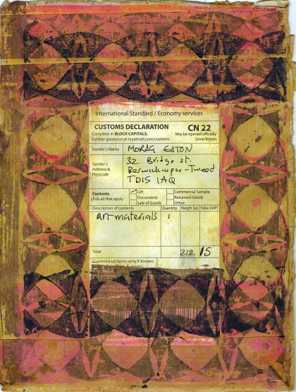 Customs declaration, work made by Mats Wikström during the residency