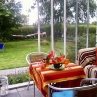 Frukost på verandan